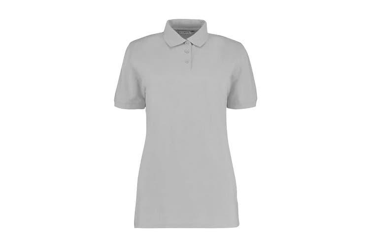 Kustom Kit Ladies Klassic Superwash Short Sleeve Polo Shirt (Heather Grey) (12)