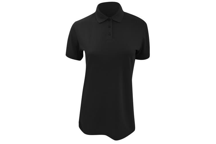 Kustom Kit Ladies Klassic Superwash Short Sleeve Polo Shirt (Black) (20)