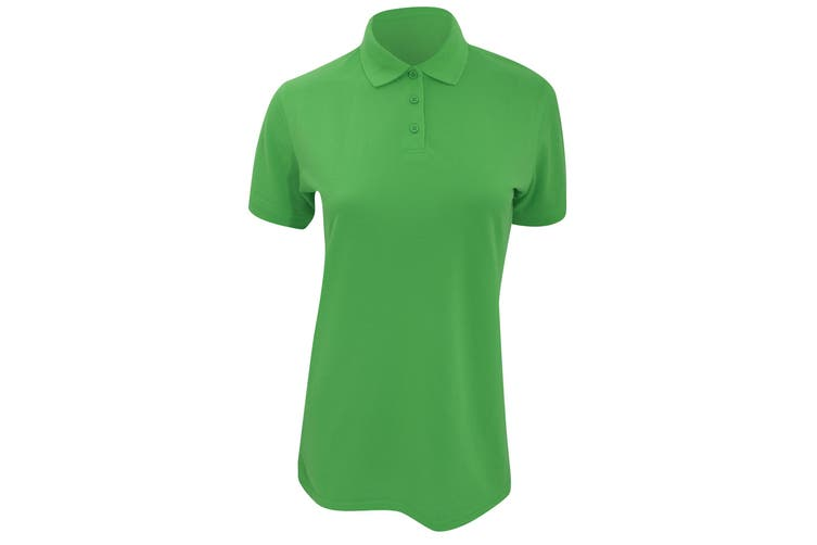 Kustom Kit Ladies Klassic Superwash Short Sleeve Polo Shirt (Apple Green) (12)