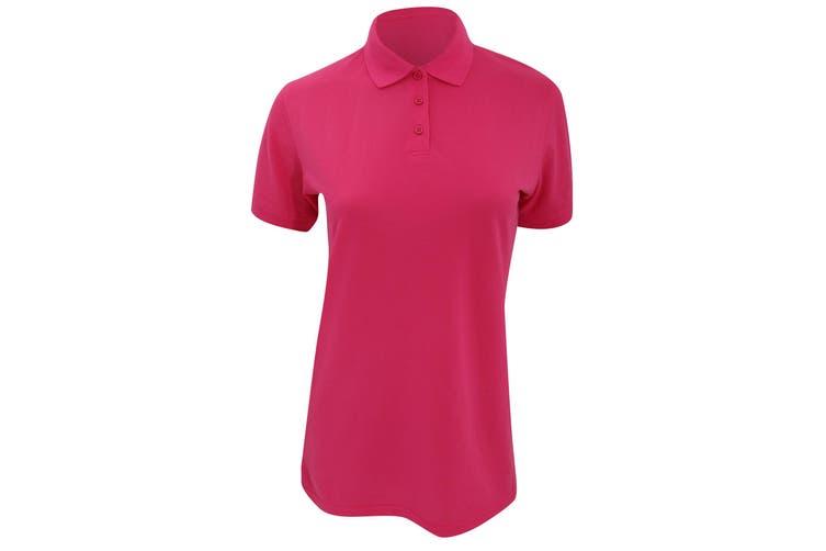 Kustom Kit Ladies Klassic Superwash Short Sleeve Polo Shirt (Raspberry) (22)