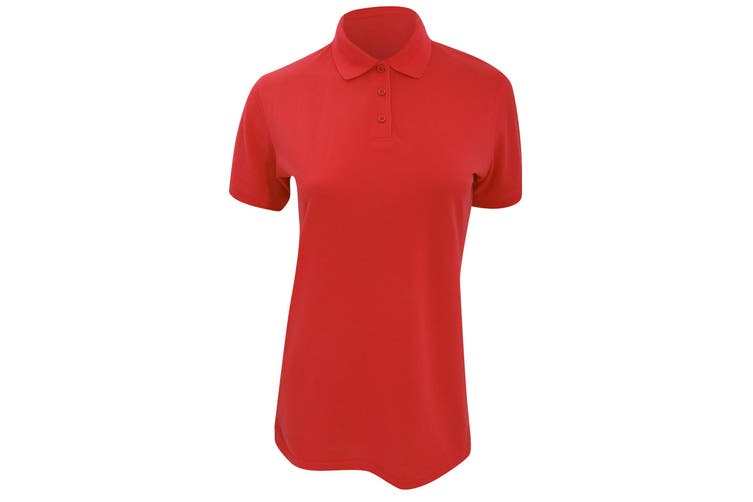 Kustom Kit Ladies Klassic Superwash Short Sleeve Polo Shirt (Red) (8)