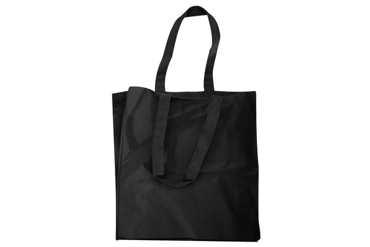 Quadra Canvas Classic Shopper Bag - 19 Litres (Black) (One Size)