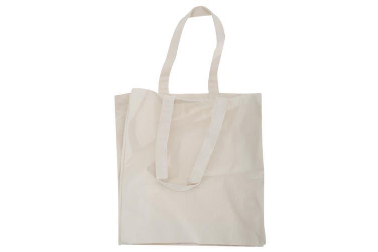 Quadra Canvas Classic Shopper Bag - 19 Litres (Natural) (One Size)