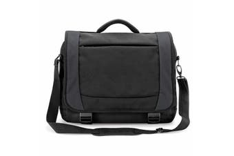 Quadra Tungsten Laptop Briefcase Bag - 14 Litres (Black/Dark Graphite) (One Size)