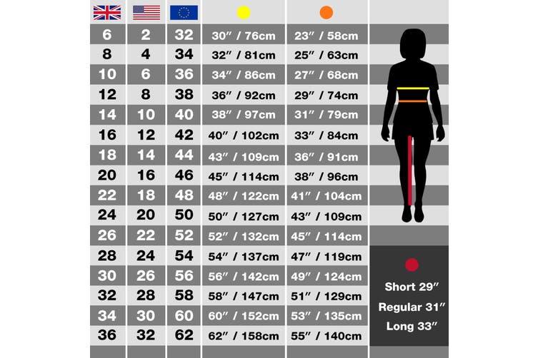 Regatta Ladies New Action Trouser (Short) / Pants (Black) (12 UK)
