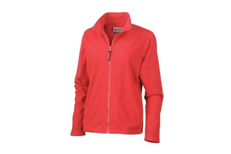 Result Ladies/Womens La Femme® High Grade Microfleece Jacket (490 GSM) (Cardinal Red) (XL)