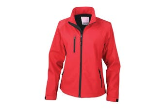 Result Ladies/Womens La Femme® 2 Layer Base Softshell Breathable Wind Resistant Jacket (Red) (XL)