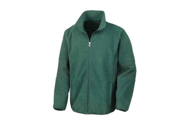 Result Mens Osaka TECH Performance Combined Pile Softshell Waterproof Windproof Jacket (Forest Green) (L)