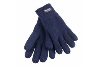 Result Junior Kids/Childrens Lined Thinsulate Thermal Gloves (3M 40g) (Navy Blue) (One Size)