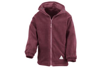 Result Childrens/Kids Reversible Storm Stuff Anti Pilling Fleece Waterproof Jacket (Burgundy/Burgundy) (9/10)