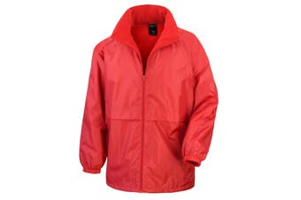 Result Mens Core Adult DWL Jacket (With Fold Away Hood) (Red) (M)
