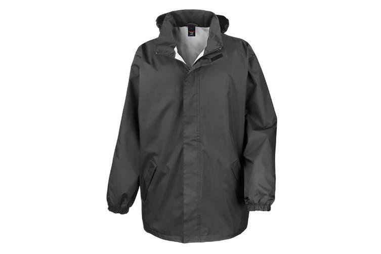 Result Mens Core Midweight Waterproof Windproof Jacket (Black) (L)
