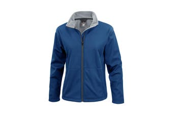 Result Core Ladies Soft Shell Jacket (Navy Blue) (M)