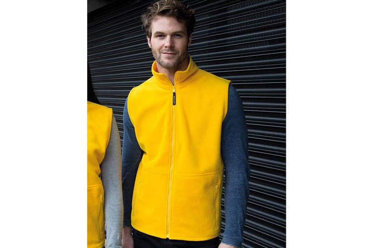 Result Mens Active Anti Pilling Fleece Bodywarmer Jacket (Yellow) (M)