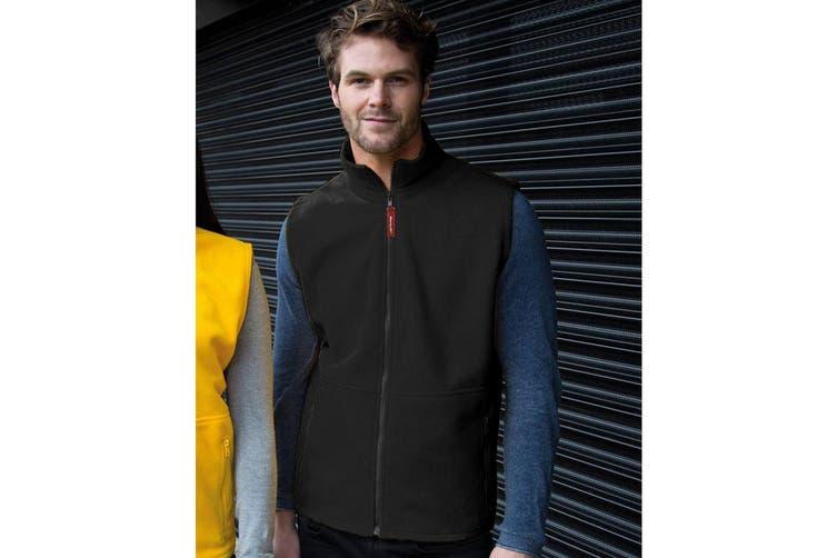 Result Mens Active Anti Pilling Fleece Bodywarmer Jacket (Black) (XL)