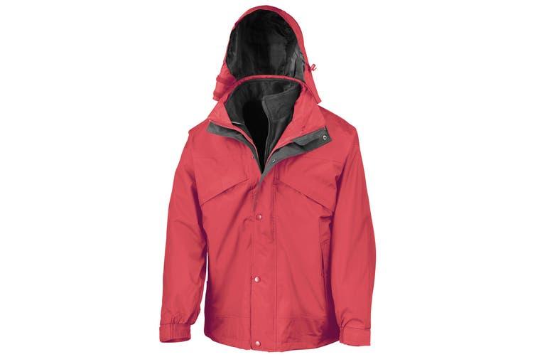 Result Mens 3 In 1 Zip And Clip StormDri Waterproof Windproof Jacket (Red) (XL)