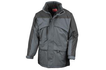 Result Mens Seneca Midweight Performance StormDri Waterproof Windproof Jacket (Anthracite/Black) (L)