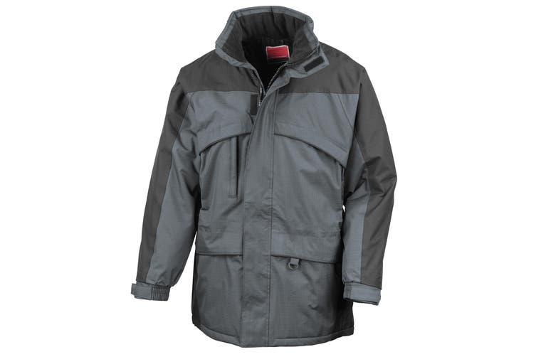 Result Mens Seneca Midweight Performance StormDri Waterproof Windproof Jacket (Anthracite/Black) (2XL)