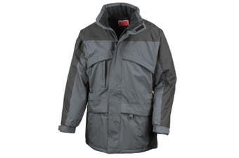 Result Mens Seneca Midweight Performance StormDri Waterproof Windproof Jacket (Anthracite/Black) (3XL)