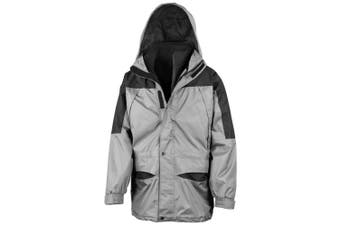 Result Mens Alaska 3-in-1 StormDri Waterproof Windproof Jacket (Grey/Black) (S)
