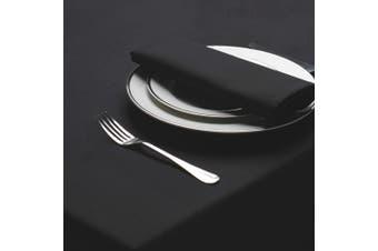 Belledorm Amalfi Round Table Cloth (Black) (One Size)