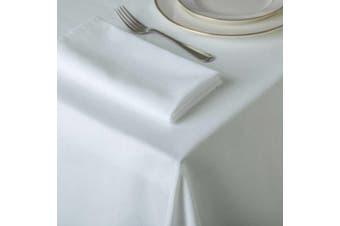 Belledorm Amalfi Round Table Cloth (White) (One Size)