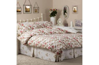 Belledorm Wild Rose Duvet Cover (Ivory) (Double)