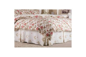 Belledorm Wild Rose Fitted Valance (Ivory) (King Size)