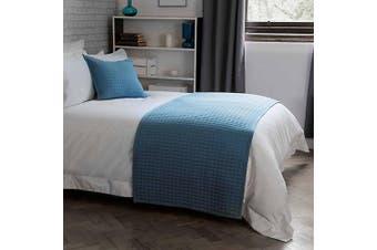 Belledorm Crompton Quilted Bed Runner (Cobalt) (One Size)
