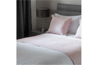 Belledorm Crompton Quilted Bed Runner (Powder Pink) (One Size)
