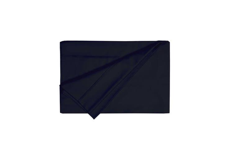 Belledorm 200 Thread Count Egyptian Cotton Flat Sheet (Black) (Double)