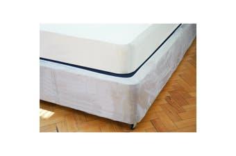 Belledorm Faux Suede Divan Base Wrap (19in) (Linen) - UTBM131