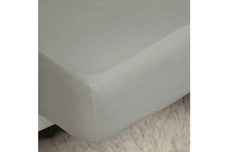 Belledorm 400 Thread Count Egyptian Cotton Fitted Sheet (Platinum) (Superking)