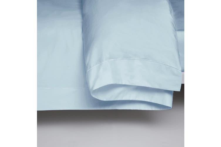 Belledorm 400 Thread Count Egyptian Cotton Oxford Duvet Cover (Duck Egg Blue) (Single)