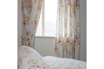 Belledorm Cherry Blossom Lined Curtains (Ivory) - UTBM150