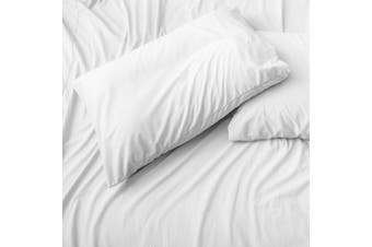 Belledorm Jersey Cotton Housewife Pillowcases (Pair) (White) (One Size)