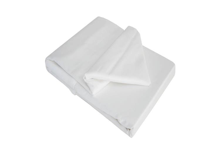 Belledorm 100% Cotton Sateen Flat Sheet (White) (Single)