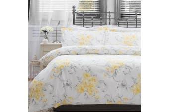 Belledorm Amour Duvet Cover Set (White/Yellow/Grey) - UTBM222