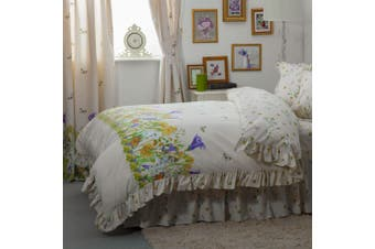 Belledorm Bluebell Meadow Duvet Cover (Ivory) (Double)