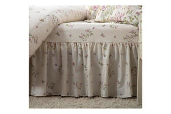 Belledorm Rose Boutique Fitted Valance (Ivory/Pink/Green) (Single)