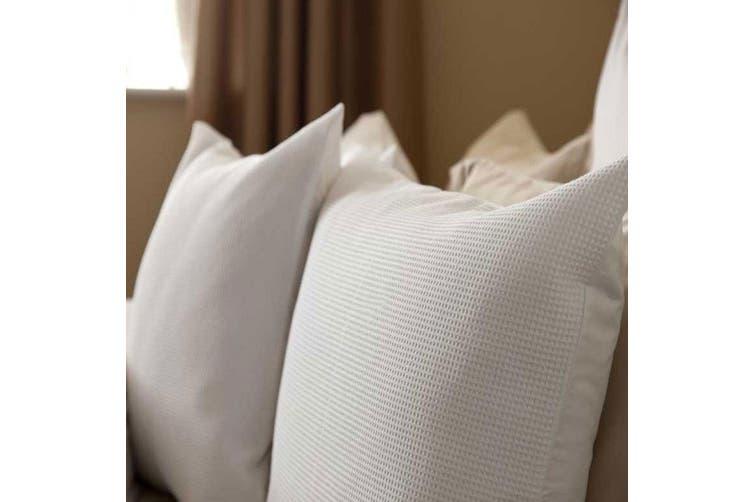 Belledorm Waffle Weave Pillowcase (White) (One Size)