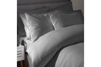 Belledorm Waffle Weave Continental Pillowcase (Slate) (One Size)