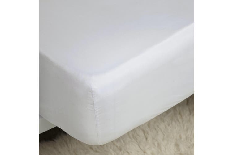 Belladorm Pima Cotton 450 Thread Count Extra Deep Fitted Sheet (White) (Kingsize)