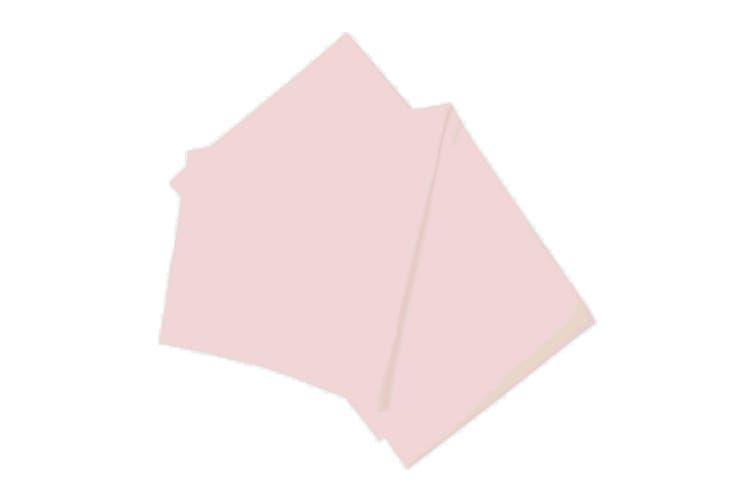 Belledorm Brushed Cotton Flat Sheet (Powder Pink) (Kingsize)