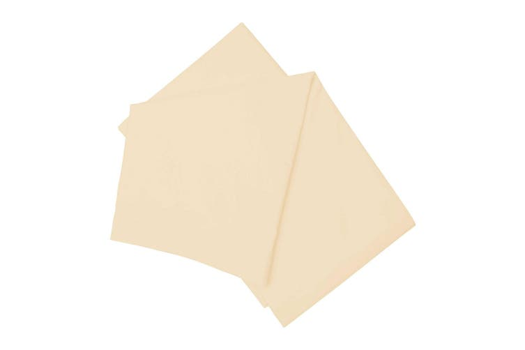 Belledorm Brushed Cotton Flat Sheet (Cream) (Double)