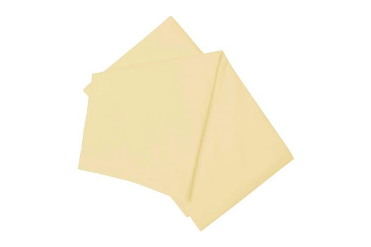 Belledorm Brushed Cotton Flat Sheet (Lemon) (Double)