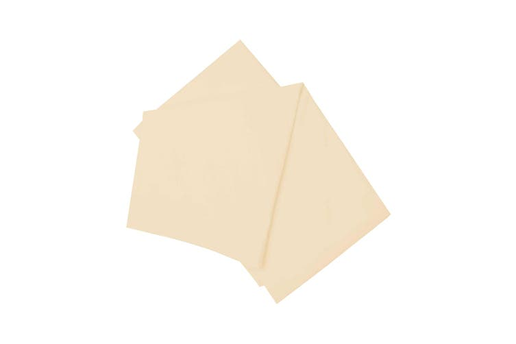 Belledorm Brushed Cotton Fitted Sheet (Cream) (Single)