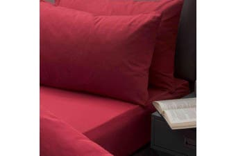 Belledorm Brushed Cotton Extra Deep Fitted Sheet (Red) (Single)