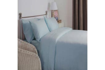 Belledorm Brushed Cotton Extra Deep Fitted Sheet (Blue) (Single)