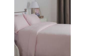 Belledorm Brushed Cotton Duvet Cover (Powder Pink) - UTBM305